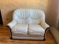 3 x 2 seater sofa cream leather