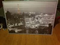 super large picture in silver frame