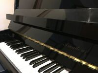 Amadeus black upright piano for sale
