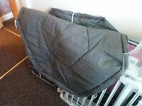 White Metal Playpen / Room Divider with Floormat good condition