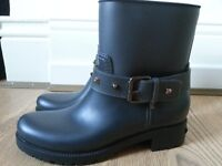 Karl Lagerfeld biker rain boots size 7 UK