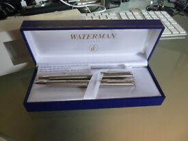 new in box waterman pen and pencil set