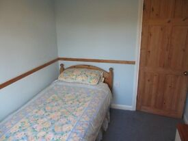 Single bedroom in detached house within 10 mins walk of High St/rail stn.