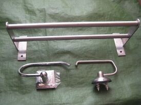 Gruntal Towel Rail and Towel/Toilet Roll Holder Plus One Other Holder - £4.00 each