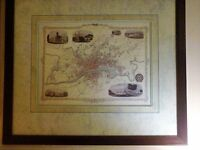 ANTIQUE MAP OF GLASGOW LIMITED EDITION TERRIFIC FOR SCOTTISH COLLECTORS !