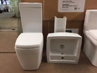 EX-DISPLAY SQUARE TOILET AND BASIN