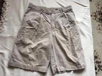"DKNYmen's shorts beige size 32"" used £7"