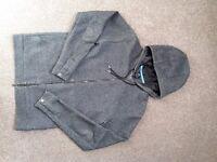Jordan Flight (Nike) Full Zip Jacket in Charcoal (size M)