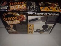 RØDE NT2A STUDIO PACK plus SCARLETT 2i2 USB INTERFACE AND STAND- Boxed as new - £240