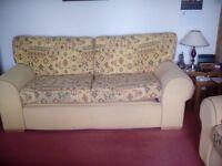 Yellow patern sofa 3 seater