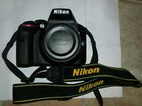 Nikon d3300 body and twin battery and grip