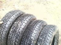 "4 BRAN NEW M&S 13"" tires 4-- just nipples off no dam"