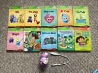 Leap Frog Tag Junior and 10 books