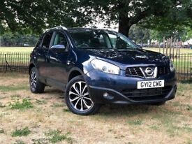 2012 NISSAN QASHQAI N-TEC + IS DCI 1.6 DIESEL ** 17000 MILES** FRONT/ BACK CAMERA ** NAVIGATION