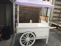 Sweet Cart, White, Good Quality Wooden Built. Good Condition.