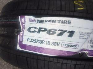ONE TIRE ONLY BRAND NEW WITH LABEL HIGH PERFORMANCE ' V ' RATED 225 / 40 / 18 ALL SEASON TIRE.