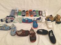 Baby boy shoes bundle 4/20 size +socks