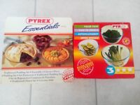 NEW SEALED IN BOX PYREX 3 x BOWL SET + 3 x PUDDING SET OVEN MICROWAVE DISHWASHER LEICESTER