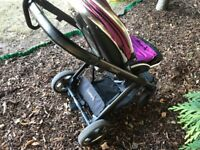 Reduced - Oyster 2 with grape hood and liner + buggy board