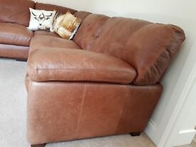 John Lewis Genuine Leather Corner Sofa