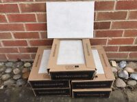 BRITISH CERAMIC SATIN GREY WALL TILES / 5 SQM / 5 BOXES / 12 TILES PER BOX / £10 PER SQM