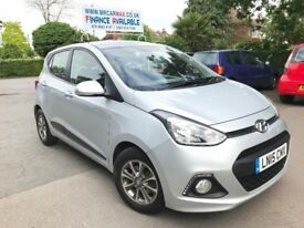 FINANCE £140 PR MONTH 2015 HYUNDAI I10 PREMIUM AUTOMATIC 1.2 PETROL 5 DOOR. 30K MILES 2 KEYS AUX