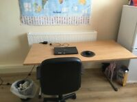Large desk with fold away legs
