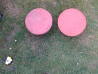 2 chimney pot fluevent red