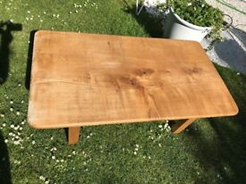 Handmade Matching Sycamore Coffee Table and Mirror