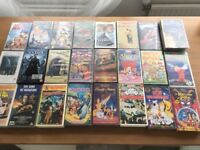 24 VHS Video Cassette Movies. Assorted collection including some Disney