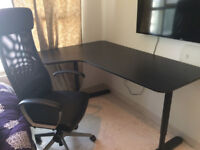 Ikea Office Corner Desk and Chair For Sale
