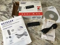 Netgear N600 wifi dongle perfect working order + all box /disc/instructions etc