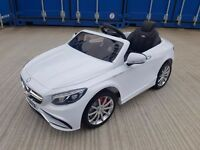 White Mercedes SL65 12v kids ride on cars. Brand New and Boxed.