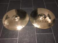 SABIAN AAX METAL HI HATS. 14 inch.
