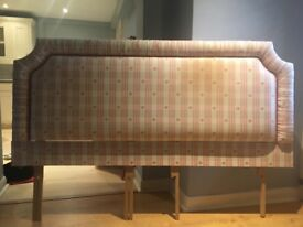 """Bedhead or Headboard upholstered in pretty Jane Churchill fabric. Measures 66 inches/5'6"""" across"""