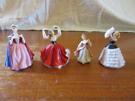 7 Royal Doulton miniature ladies.