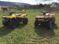 2 x 2012 cectek gladiator 500 quad atv bike