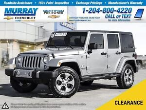 2016 Jeep WRANGLER UNLIMITED Sahara *Accident Free, Satellite Ra