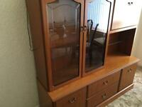 Dresser with glass front