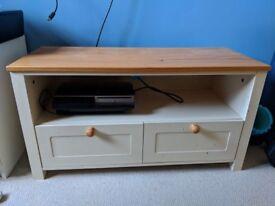 Bargain: wooden tv furniture, 2 drawers