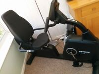 Kettler Giro R Black recumbent exercise bike, little use due to injury. As new condition.