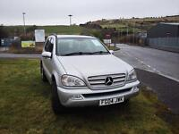 2004 Mercedes ML270 Full Black Leather 12 Month MOT