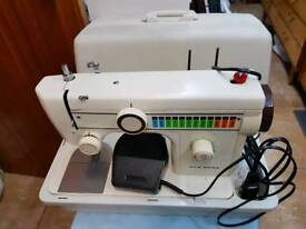 New home sewing machine vintage with foot pedal