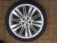 """SEAT 17"""" Alloy wheels x 4 - Brilliant condition - Great tread on tyres"""