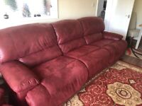 Three seater sofa and chair