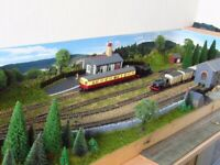oo gauge branchline model railway full scenic section working condition