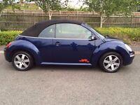 2007 Volkswagen Beetle 1.4 Luna Cabriolet Reflex Blue Full Service History 2 Owners HPI Clear