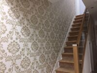 £65 PER FEATURE WALL. WALLPAPERING, PAINTER AND DECORATOR. 100% QUALITY ASSURED. NO UPFRONT COST