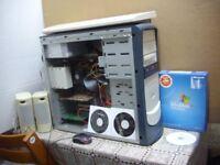 PC System AMD 2.4GH Dualcore 4600+ 3GB Ram, Radeon Gcard, + Software