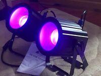 2 American DJ UV COB Cannons disco light